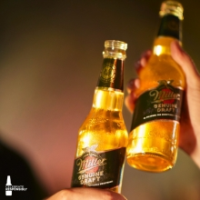 Cool 🍻 and warm conversations is what this afternoon is all about. No time to sit still #itsmillertime