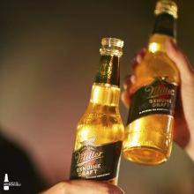 Celebrating the weekend with a golden glow. Cheers! ✨ #ItsMillerTime #StayHome
